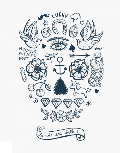 la vie est belle planche tatouage éphémère