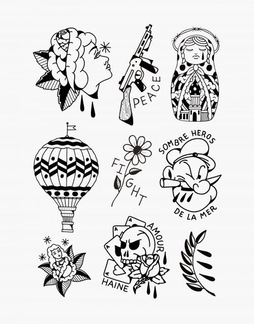 symbole ink waram tatouage éphémère