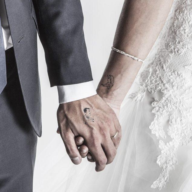 Le mariage gai tatouage temporaire mariage couple