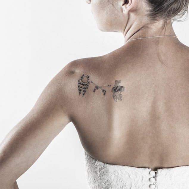 Le mariage gai tatouage temporaire mariage épaule