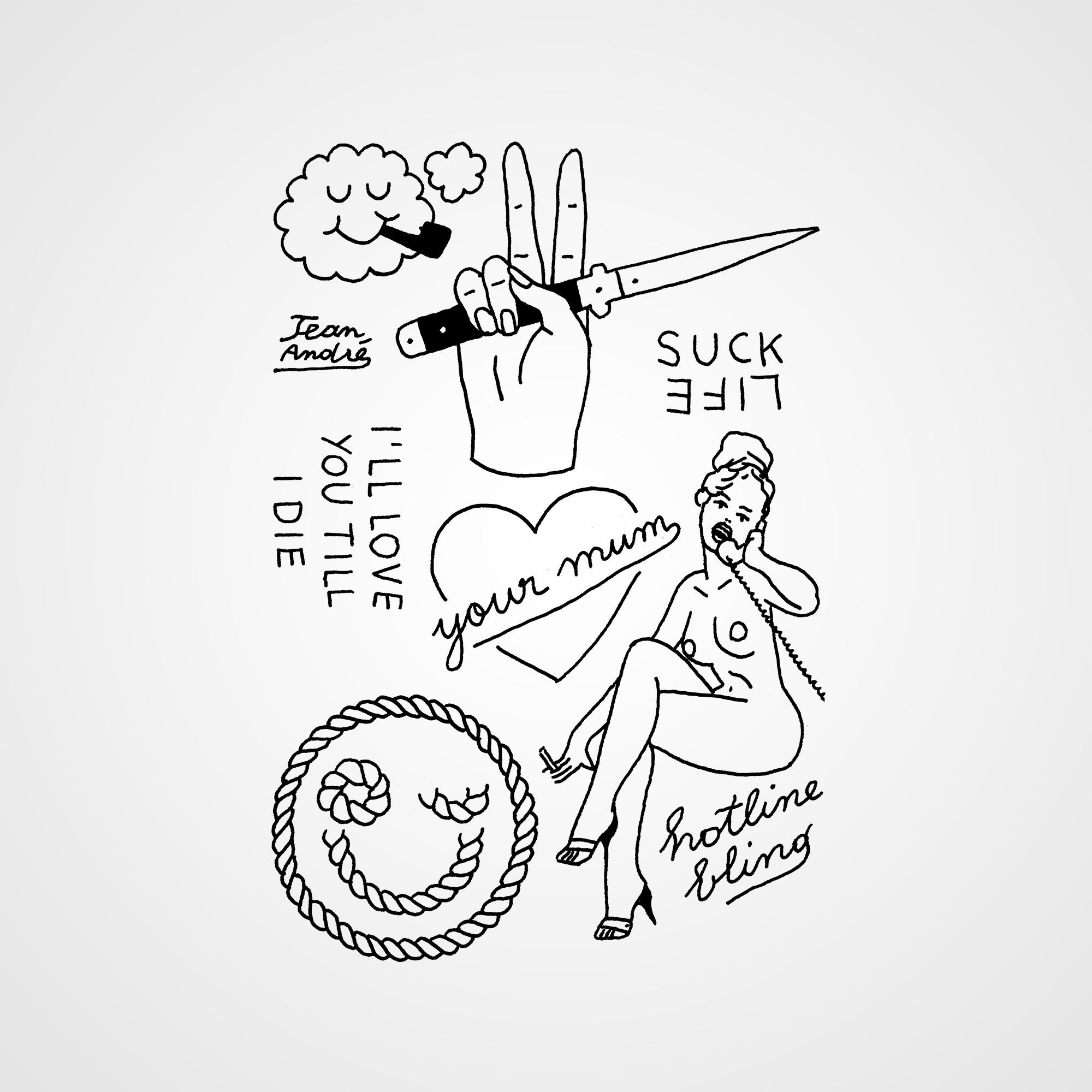 tatouage temporaire La violence et l'amour