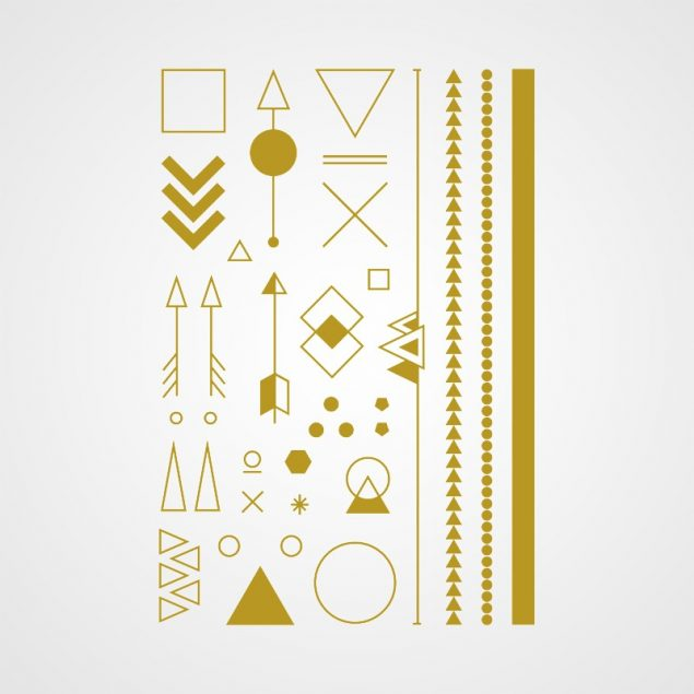 Angle d'or bijou ephemere doré poignet