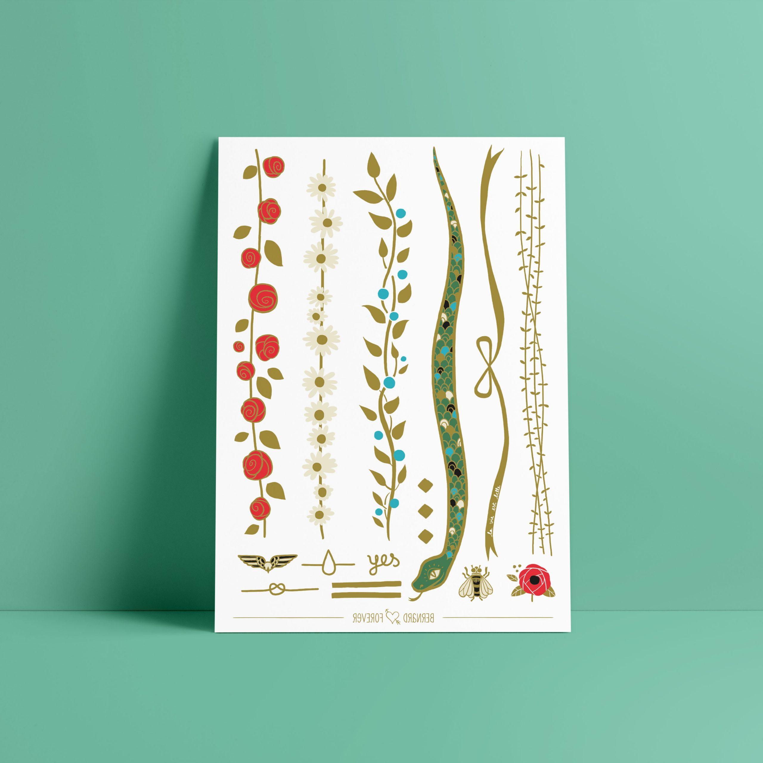Le petit jardin bijou ephemere doré