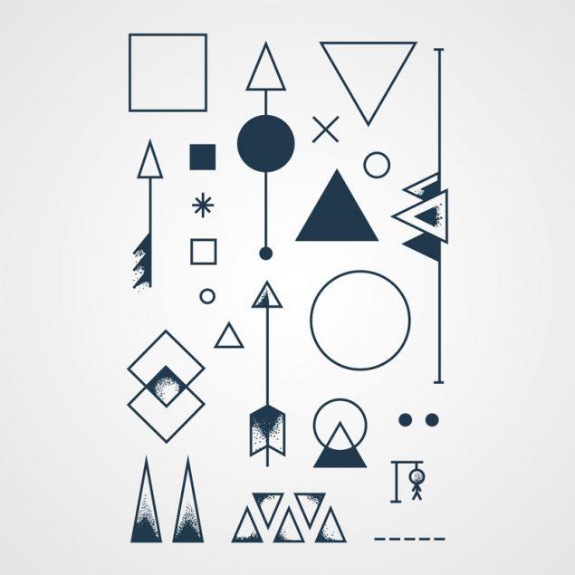 Angle mort tatouage ephemere geometrique