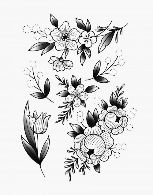 gravure florale armelle