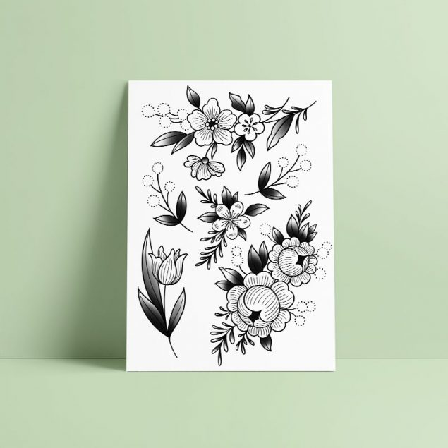 Gravure florale