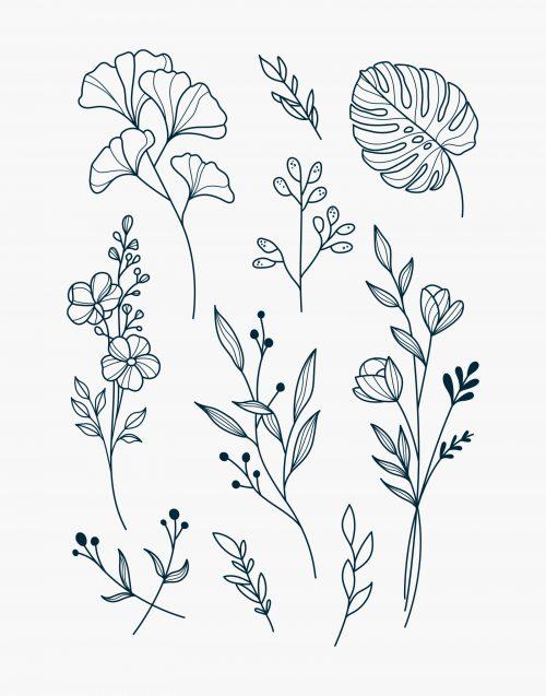 Nuoo tatouage éphémère fleurs